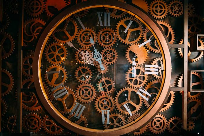Enigma steampunk clock